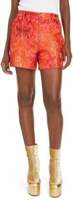 Dries Van Noten Metallic Brocade Shorts