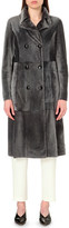 Drome Reversible leather and shearling coat