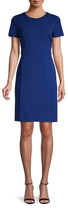 Karl Lagerfeld Paris Short-Sleeve Sheath Dress