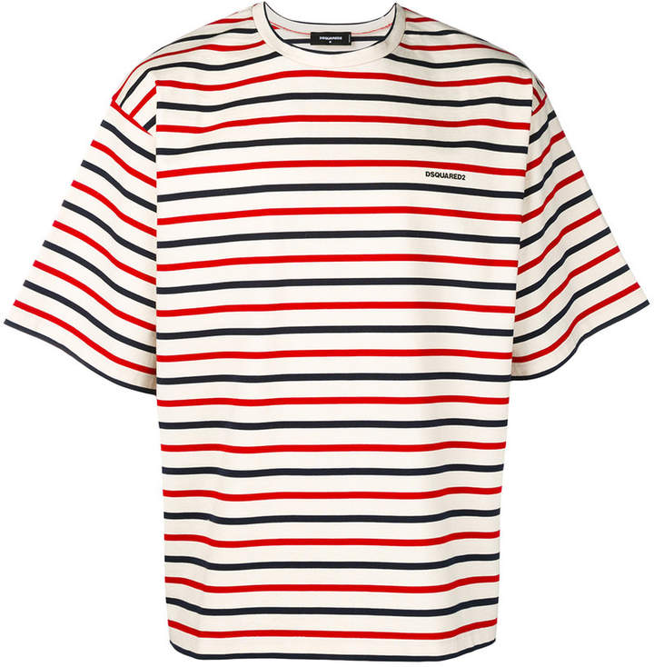DSQUARED2 oversized striped T-shirt