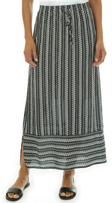 Apt. 9 Petite Striped Column Maxi Skirt