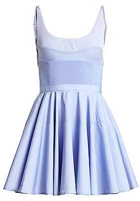 Alexander Wang Women's Ribbed Corset Mini Dress