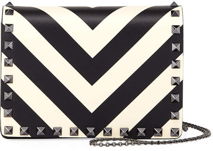 Valentino Rockstud V-Stripe Pouch Crossbody Bag