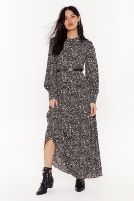 Nasty Gal Womens Here Grows Nothin' Floral Maxi Dress - Black - 8