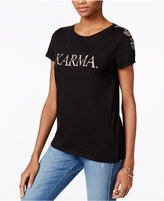GUESS Embellished Karma Graphic T-Shirt