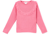 Pink Angel Fuzzy Pink Fringe-Yoke Sweater - Infant & Girls