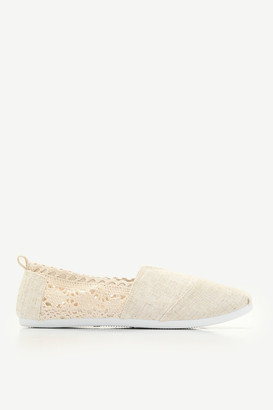 Ardene Canvas Crochet Slip-on Sneakers