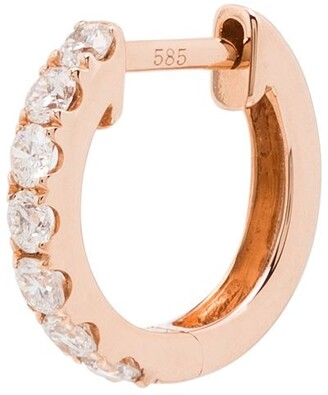 Roxanne First 14kt Rose Gold Medium Chubby Hoop Earring