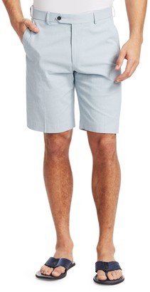 Saks Fifth Avenue COLLECTION Check Seersucker Shorts