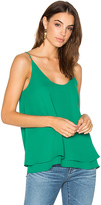 Krisa Double Layer Cami in Green. - size XS (also in )
