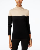 Cable & Gauge Colorblocked Turtleneck Sweater