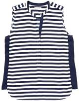 Nautica Striped Tipped Georgette Top