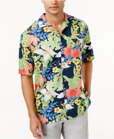 Cubavera Men's Big and Tall Solari Floral Print Shirt