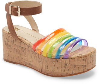 BC Footwear Sorry Not Sorry Platform Wedge Sandal