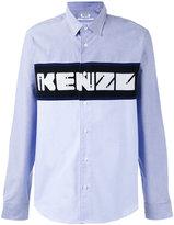 Kenzo knit panel shirt - men - Cotton - S