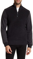 Calvin Klein Jeans Ottoman Tube Terry 1/4 Zip-Up Sweater