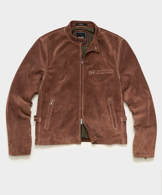 Todd Snyder Italian Suede Cafe Racer in Brown