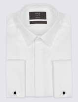 M&S Collection 2in Longer Cotton Blend Regular Fit Shirt
