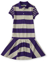 Ralph Lauren Girls 7-16 Striped Short Sleeves Dress