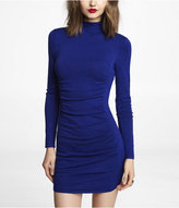 Express Mock Neck Ruched Sweater Dress