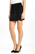 Paige Women's Francesca Scallop Denim Miniskirt