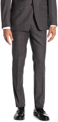 John Varvatos Charcoal Grid Suit Separates Trousers