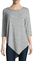 Soft Joie Tammy 3/4-Sleeve Sweater , Heather Gray