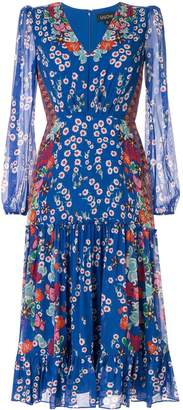 Saloni Devon floral print dress