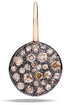 Pomellato Sabbia Brown Pave Diamond Earrings, 0.78 TCW