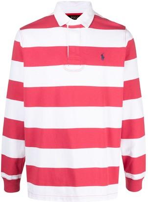 Polo Ralph Lauren Striped Logo Polo Shirt