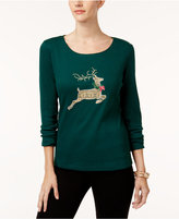 Karen Scott Cotton Reindeer T-Shirt, Created for Macy's