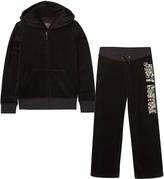 Juicy Couture Black Multi Sequin Logo Tracksuit