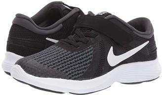 Nike Kids FlyEase Revolution 4 (Little Kid) (Black/White/Anthracite/Total Crimson) Kids Shoes