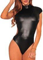 Eiffel Store Eiffel Women's Cutout Back Jumpsuit Romper Bodysuit Tops Teddy Leotard