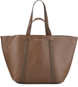 Brunello Cucinelli Monili Calfskin Tote Bag w/ Convertible Strap
