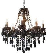 Glam Dame 8-Light Ceiling-Mount Jeweled Chandelier in Black