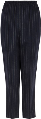 By Malene Birger Florah Striped Tapered-leg Twill Trousers