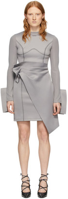 Off-White Grey Jersey Wrap Dress
