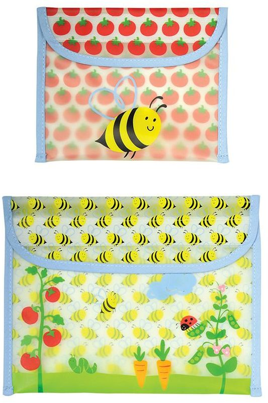 I Play Green Sprouts by 2-pk. Bumblebee Reusable Garden Snack Bags