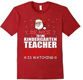 Women's Be Nice To The Kindergarten Teacher Santa Is Watching Shirt XL