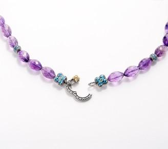 Barbara Bixby Sterling Silver & 18K Gold Gemstone Floral Necklace