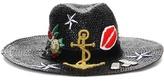 Dolce & Gabbana Straw hat with appliqué