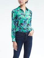 Banana Republic Easy Care Floral Dillon-Fit Shirt