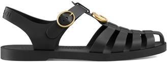 Gucci Rubber buckle strap sandals