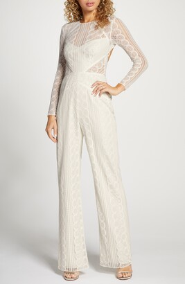 By Watters Curtis Long Sleeve Lace Jumpsuit