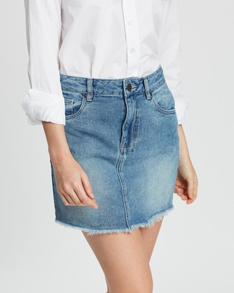 Dricoper Denim Vintage Cut-Off Skirt