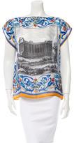 Dolce & Gabbana Temple Print Silk Top