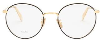 Celine Round Metal Glasses - Gold