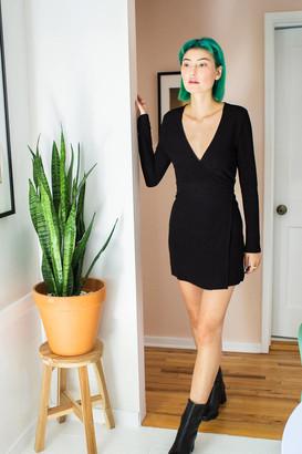 Urban Outfitters Sugar Knit Mini Wrap Dress