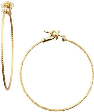 Paul Morelli 18k Yellow Gold Diamond Cluster Hoop Earrings, 40mm